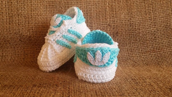618aa0d33de5 best Baby crochet adidas newborn sneakers booties by uncinettocrochet