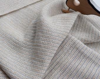 Merino Baby Blanket, wool baby blanket - Merino and Lurex Mint Stripe