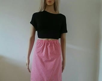 Red & White Candy Stripes Skirt
