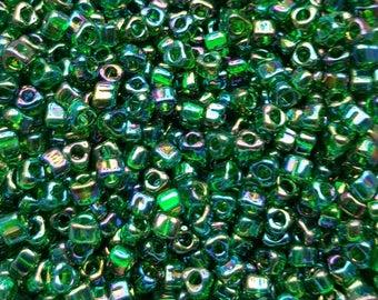 Miyuki 5/0 Triangle Beads  - Iris Green TR5-1154 - 20g