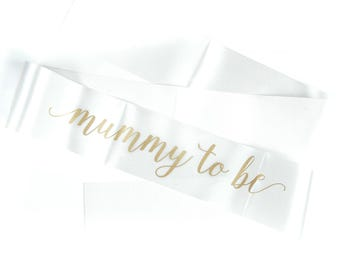 Baby Shower Sash - Mummy to be Sash - IVORY - Gender Neutral - Baby shower decorations - Mum to be gifts