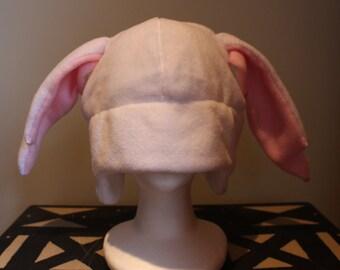 White Anime Ear Hat