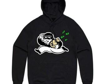 Money bag hoodie black or gray