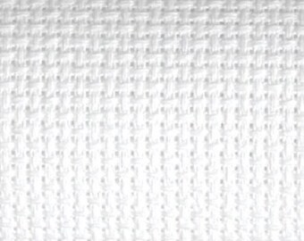 WHITE - 14 Count AIDA by Zweigart | Quality Aida for Counted Cross Stitch | Cross Stitch Fabric | 100 Percent Cotton