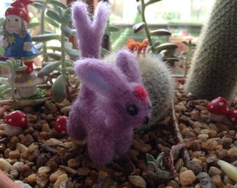 Mini hand felted super cute Espeon Pokemon for collectors or just pokemon lovers