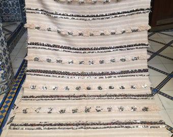 Cream Moroccan Wedding Blanket