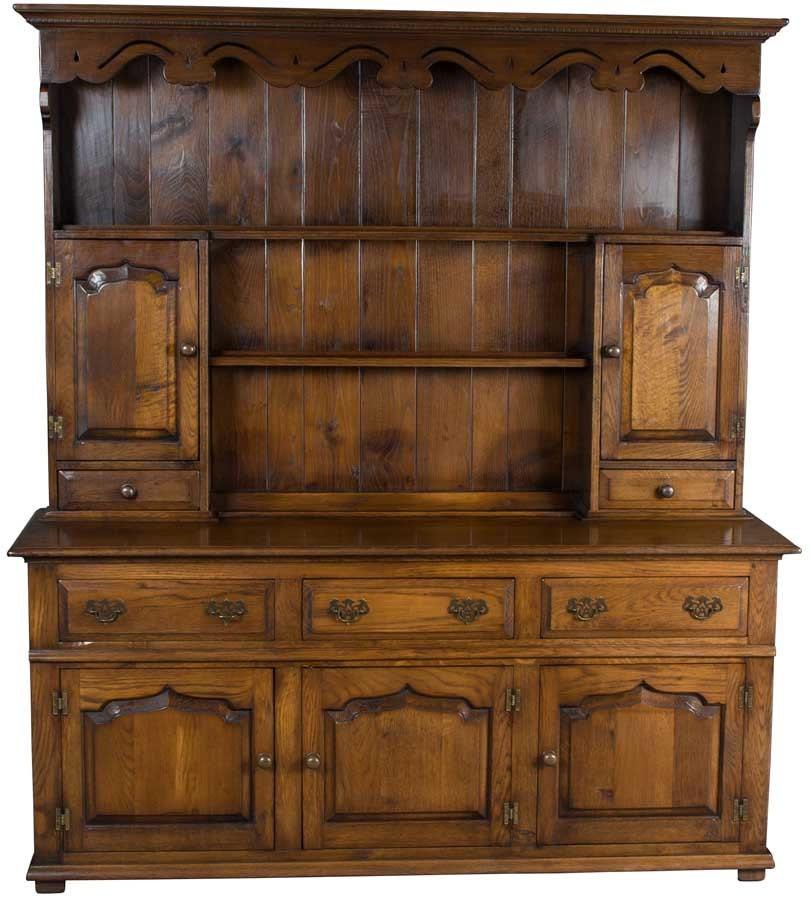Vintage Solid Oak Welsh Dresser Kitchen Hutch