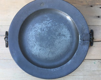 Pewter warming plate