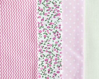 A set of fabrics for needlework. A set of 3 fabrics.
