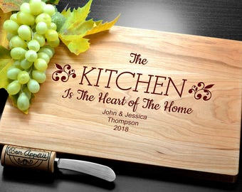 Welcome Home cutting board, Engraved cutting board, Custom Personalized Weeding gift, Housewarming Gift, Anniversary gift, Realtor gift