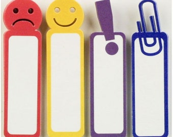 Faces Tabs Sticky Notes Little B Happy Face Sad Face Exclamation Point Paper Clip Emoji Journal Sticky Notes Planner Accessories Page Flags