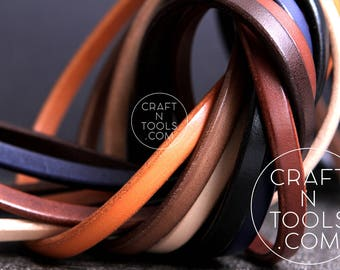 Regaliz Natural Leather Cord 10 x 4.5mm/Cuff Leather Cords/Wrist Bracelet Cord/Distressed Leather/Licorice Leather