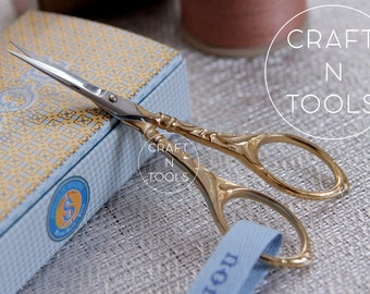 Embroidery Scissors Maison Sajou Peacock Style in 2 models/Sajou Shears/Embroidery Shears/Chenille Scissors/Knitters Scissors/Beading
