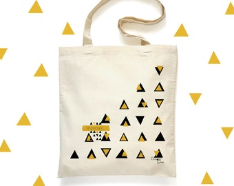 Tote Bag 'In passing' / shopping 'In passing' - cotton bag