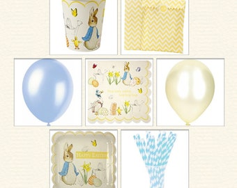 Adorable Peter Rabbit Easter Party Pack for 12 Guests