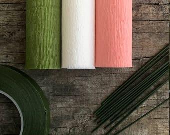60g - DIY Italian Crepe Paper - Kit 4