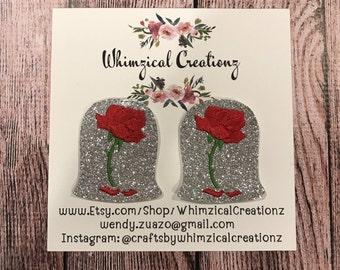 Enchanted Rose Shoe Clips