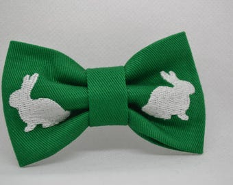 Child Easter Bow tie - Bunny bow tie - Baby bow tie - Toddler bow tie - Personalized - Green Bow tie - Easter - Gift ideas
