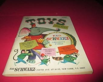 Vintage FAO Schwartz Christmas Toy Catalog, 1967
