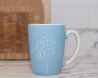 Blue ASL Coffee Mug 12.5oz