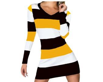 Black + Yellow Stripe Spirit Dress