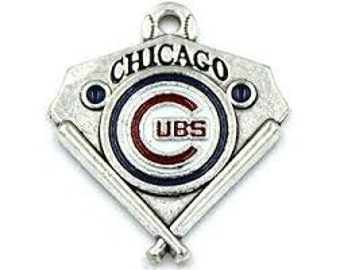 Chicago Cubs Baseball Triangle Charm