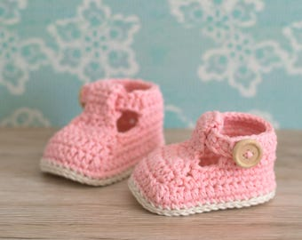 CROCHET PATTERN - Crochet Baby Booties Ruby Slippers - Baby Shoes - PDF