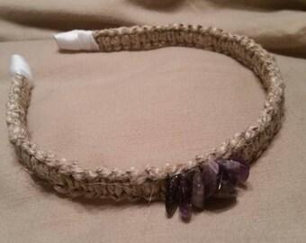 Amethyst & Hemp Headband