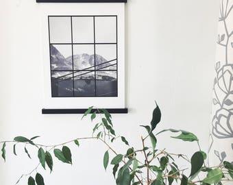 The Mountain Grid, Giclee Print A3