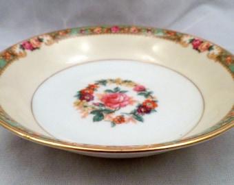"Rare KPM Porcelain ""The Rosedale"" Pattern #27469 Berry Bowl, Vintage 1930's"