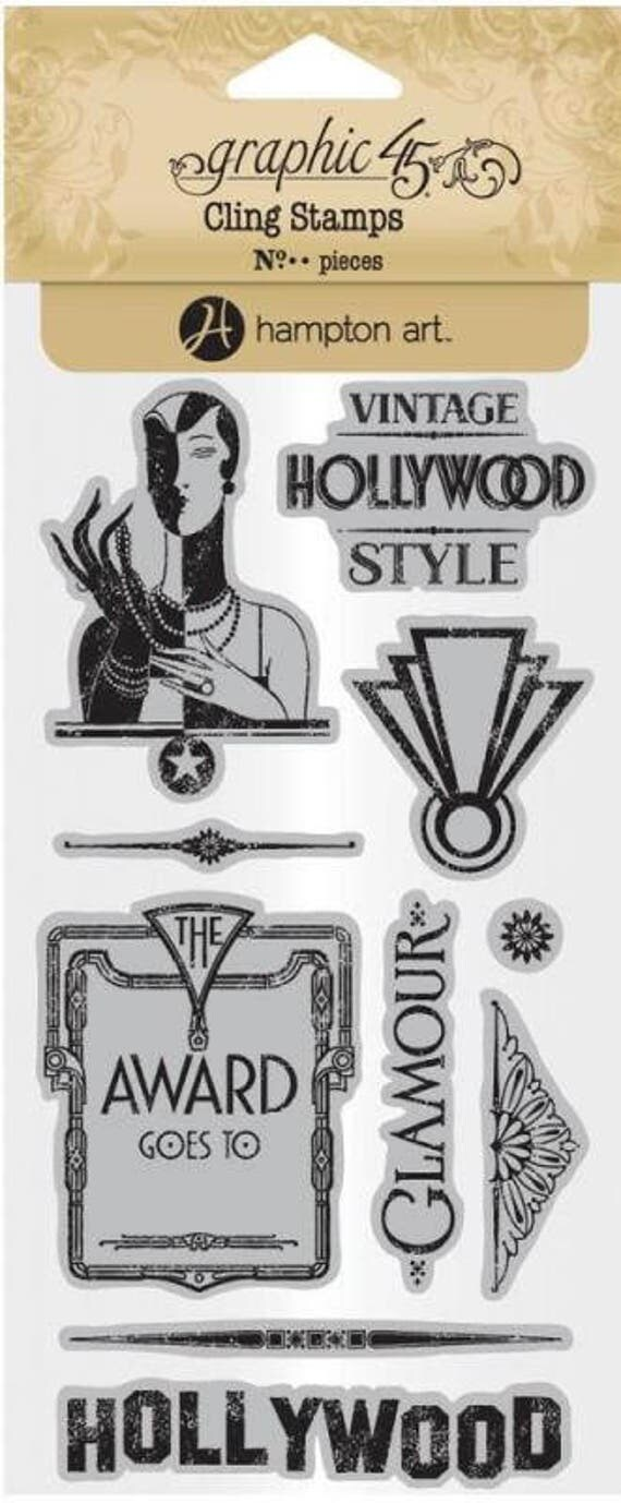 NEW! Graphic 45 Vintage Hollywood Stamps 3, SC007704