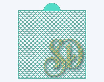Cut your own 8x8 mermaid scales stencil using this mermaid scales SVG file