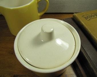 Yellow and White Sugar Dish and Creamer Set