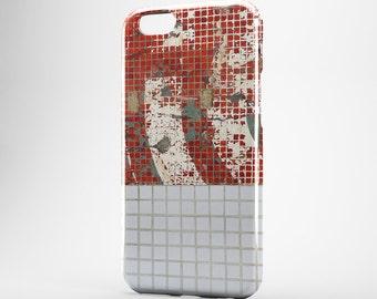 Ceramic iPhone Case Red Tile iPhone 7 Case iPhone 6 Plus Case iPhone 7 Plus Case iPhone SE Marble Galaxy S7 Case Red Marble iPhone 5 Case