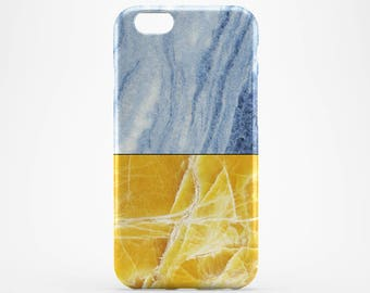 Blue Marble iPhone 7 Case Yellow Marble iPhone 6 Case Galaxy Case iPhone 5 Cover iPhone 7 Plus iPhone 4 Case iPhone SE, Double Marble iPhone