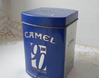 vintage Camel metal cigarette tin