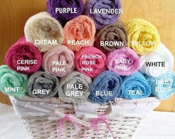 Choice of 4 Hand-Dyed Cheesecloth Package Newborn Baby Wrap Photography photo prop 120 x 90cm