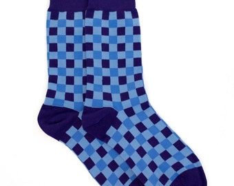 Checkered Socks - Checkerboard Socks. Mens Socks. Mens Dress Socks. Mens Polka Dot Socks. Handmade Socks. Fun Socks. Colorful Socks. Socks