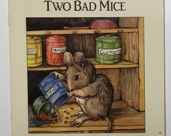 My Little Book About Two Bad Mice Based On The Original Story By Beatrix Potter With All New Illustrations Vintage Paperback Book 1991