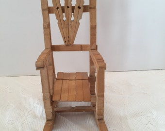 Clothespin Chair ~ Wooden Chair ~ Small Chair ~ Shabby Chic ~ Vintage