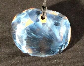 Blue Crystal Glazed Ceramic Pendant