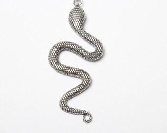 Silver Snake Necklace Snake Necklace, Silver Snake Necklace, Snake Jewelry, Snake Jewellery