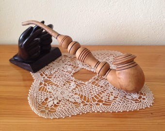 Big Vintage Hand Carved wooden Pipe, vintage Tobacco Smoking Pipe, Collectible, gift for him, wooden pipe