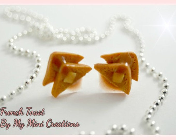 French Toast, Polymer Clay, Miniature Food, Miniature Food Jewelry