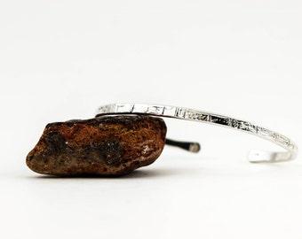 Sterling Silver Bracelet, Hammered, Textured, Silver Cuff, Silver Bangle, Silver Cuff Bracelet,Solid 925 Sterling Silver,Solid Silver Bangle