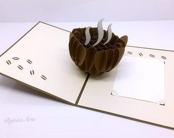 3D Pop Up Coffee Card