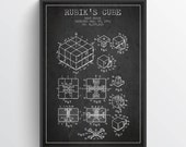 1983 Rubiks Cube Patent, Magic Cube print, Magic Cube Poster, Wall Art, Home Decor, Gift Idea, GT10P