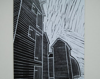 Limited Edition Digital Print of Original Lino cut