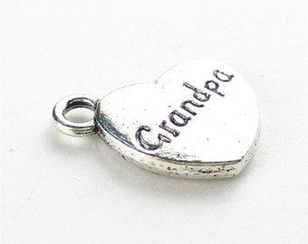 "10pcs 18x15mm Letter ""Grandpa"" Charms Jewelry Pendants Accessories YY"