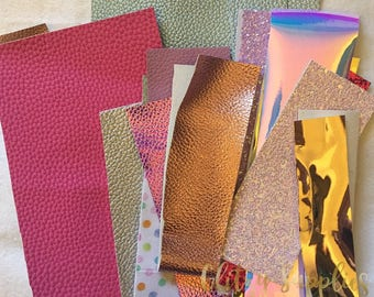 Scrap Packs - Faux Leather - Textured Leather - Chunky Glitter - Fabric Felt & MORE